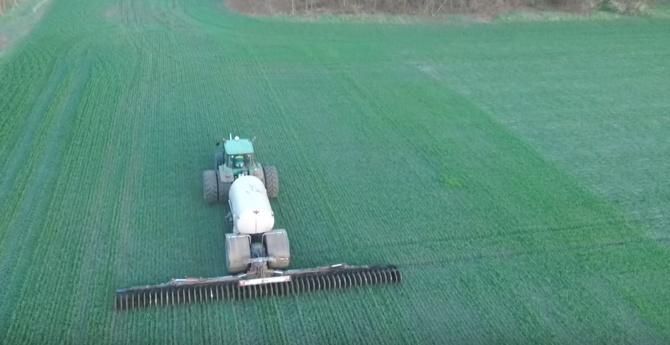 Внесение азотных удобрений.